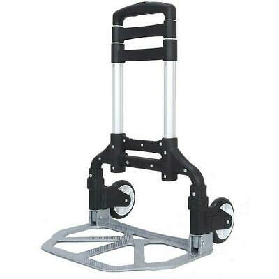 170 lbs Aluminium Luggage Cart Folding Dolly Push Truck Hand Collapsible Trolley