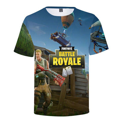 Mens 3D Fortnite T-shirt Battle Royale Video Game Top Funny Cool Tee Unisex New