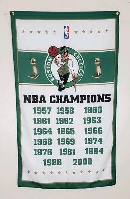 Boston Celtics Championship Banner 3x5 Flag Man Cave Decor NBA World Champions