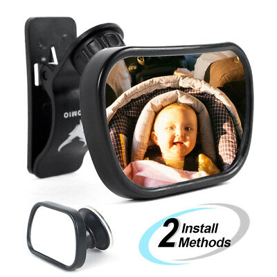Baby Car Mirror Back Seat Rear Ward Safety View for Infant w Clamp - Sucker