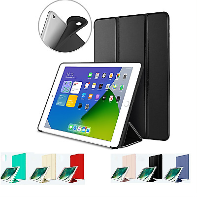 iPad 6th Generation 2018 9-7 Slim Magnetic Silicone Smart Cover Case For Apple