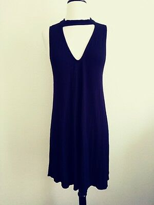 Black L Wet Seal Dress swing dress sleevless knee swing soft used light wear