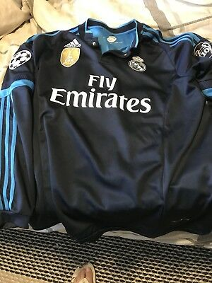 Adidas  Real Madrid Jersey 1415 Sergio Ramos Large  LS Champions League jersey