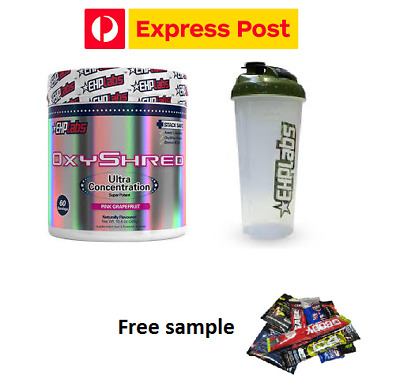 EHPLABS OXYSHRED  EHP LABS  OXY SHREDTHERMOGENIC FAT BURNING - SHAKER - EXPRESS