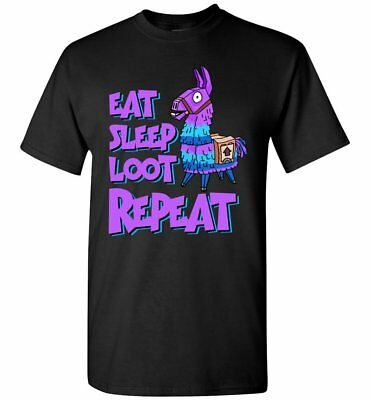 Fortnite Battle Royale Eat Sleep Loot Repeat T-Shirt Adult And Youth Size