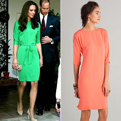 Diane von Furstenberg DVF silk pink ASO Kate Middleton Maje dress 0 no belt