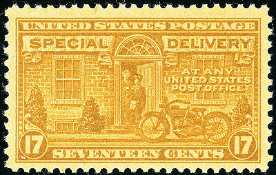 US Scott E18 Motorcycle 17¢  Orange Yellow Special Delivery  MNH FREE SHIP