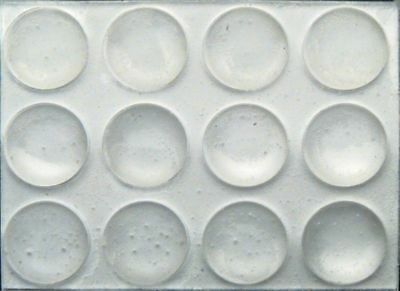 72 - 38 Round Rubber Bumpers Clear Surface Protector Pad Cabinet Crafts Feet