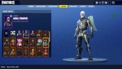 Fortnite account Skull Trooper Renegade Raider Red Knight and more