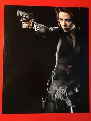 Scarlett Johansson Signed 8x10 Photo W COA Marvel's Avengers 2012 Black Widow