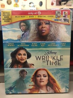 A Wrinkle in Time Target Edition Blu-ray-DVD-Digital Code NEW free shipping