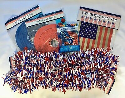New 4th Fourth of July Independence Day Party Pack Patriotic Decorations