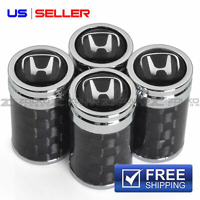 CARBON FIBER VALVE STEM CAPS WHEEL TIRE FOR H EMBLEM VC01 - US SELLER