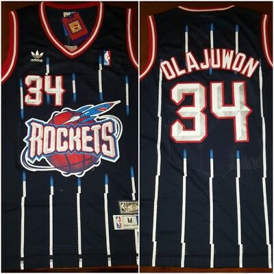 Throwback Houston Rockets NBA Legend Hakeem Olajuwon Mens MED Basketball Jersey