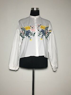 ZARA Embroidered Top SMALL