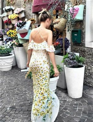 NWT ZARA Strappy Summer Off The Shoulder Maxi Long Floral Printed Dress 2522151