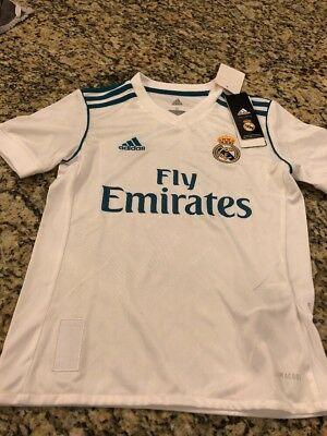 Real Madrid Adidas Home Replica Jersey 20172018 Youth Small