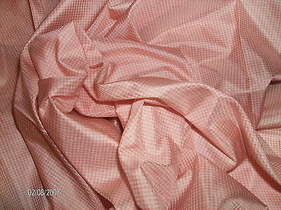 SMALLER CUTSILK TISSUE TAFFETAMICRO PINKWHITE CHECKS9x 27MINIATURES8 FF