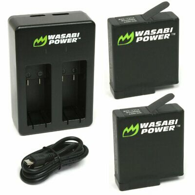 Wasabi Power Battery 2-Pack and Dual Charger for GoPro HERO7 Black HERO6