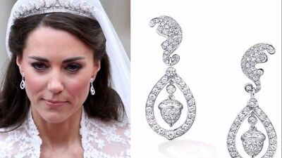 Kate Middleton Acorn Diamond Wedding Earrings  1-04