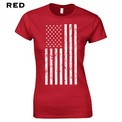 218 American Flag Womens Shirt retro cool patriot fourth of july USA Anthem cool