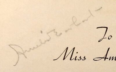 Amelia Earhart 1934 autograph from promotional tour for Earhart sportwear