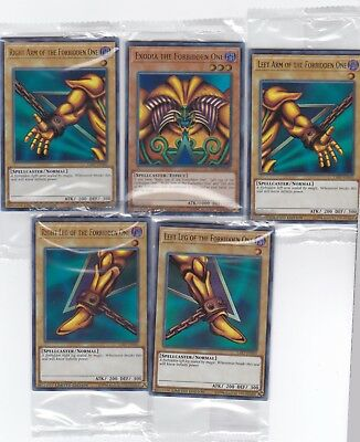 YU-GI-OH LOST ART PROMO COMPLETE SET OF EXODIA THE FORBIDDEN ONE SEALED NEW