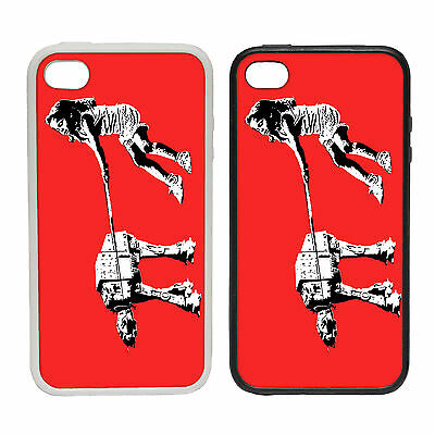 BANKSY STYLE AT AT DOG WALK GIRL RUBBER AND PLASTIC PHONE COVER CASE