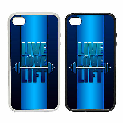 LIVE LOVE LIFT RUBBER AND PLASTIC PHONE COVER CASE FUNNY MOTIVATE DESIGN