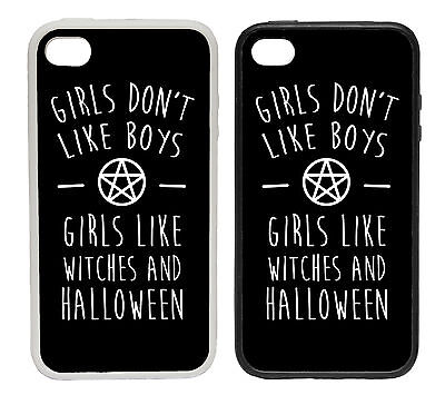 GIRLS DON T LIKE BOYS HALLOWEEN RUBBER AND PLASTIC PHONE COVER CASE