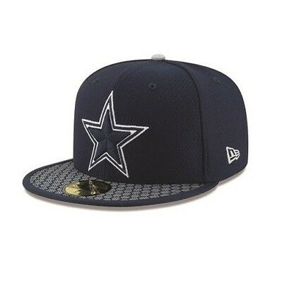 Dallas Cowboys New Era 59FIFTY NFL On Field Sideline Fitted Cap 5950 Hat  Size 8