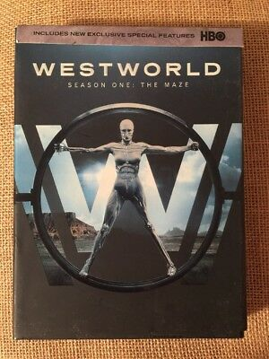 Westworld The Complete First Season 1 DVD 2017 3-Disc Set 1st Class Ship
