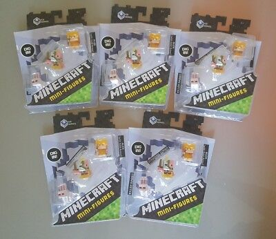 Minecraft Mini-Figures 3-Pack Ice 5 Series - DPY67 - Alex Gold Lot of 5
