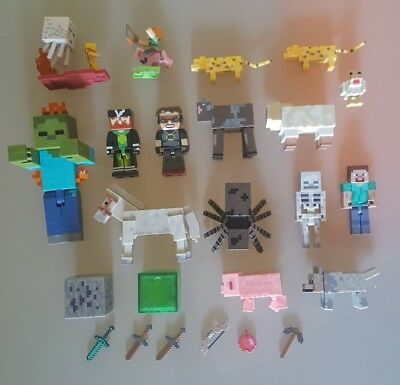 Minecraft Action Figures - Lot of 24
