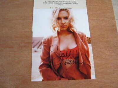 SCARLETT JOHANSSON - HOTT SEXY - HAND SIGNED PHOTO WITH COA