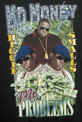 BIGGIE SMALLS MO MONEYMO PROBLEMS NOTORIOUS B-I-G- T SHIRT LARGE NEW