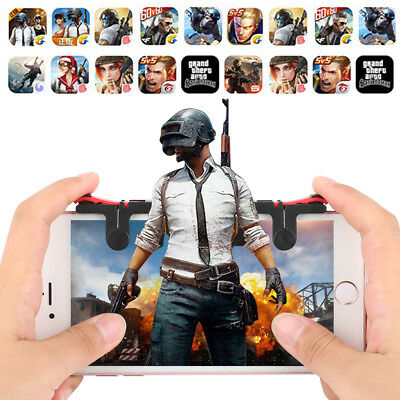 2x PUBG Fortnite Mobile Phone Shooter Controller Game Trigger For iPhone X 8 US
