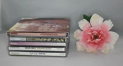Lot of 5 2000s Pop and Country CDs  Selena Gomez Taylor Swift Cody Simpson