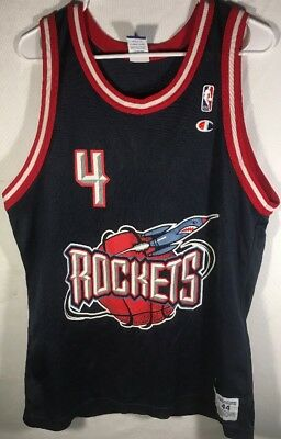 Charles Barkley 4 Houston Rockets NBA Champion VINTAGE Jersey 44
