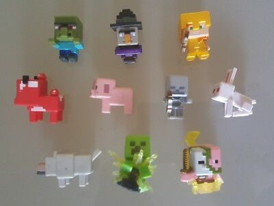 Minecraft Mini Figures - Mixed Lot of 10 - Mojang Mattel