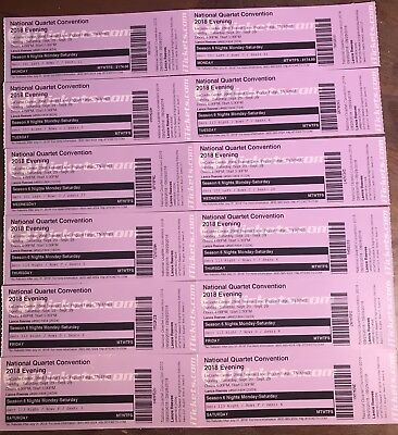 12 Tickets For National Quartet Convention