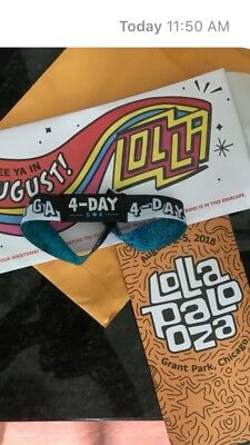 Lollapalooza 2018 4 Day Pass Concert Tickets  Grant Park 82-8518