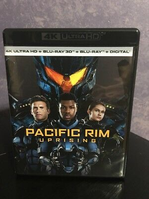 Pacific Rim Uprising 3D Blu-ray Only With Case