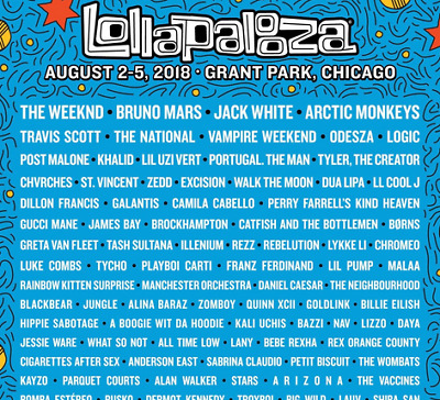 Lollapalooza 2018 Friday 1 Day Ticket Wristband Pass SHIPS NOW
