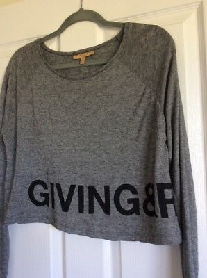 Zara Trafaluc Size S Graphic Long Sleeve T