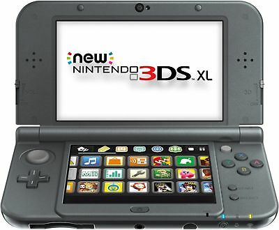 Nintendo New 3DS XL Launch Edition 4GB Black Handheld System  USED