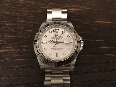 Rolex Explorer II 2 16570 40MM Stainless Steel Watch White Polar dial C- 2005