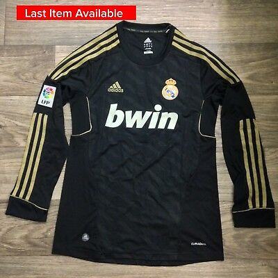 Real Madrid Ronaldo 2011 2012 Black Men Medium Soccer Jersey Camiseta Maillot