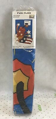 Fireworks Fourth Of July Red White Blue Fun Flag New Gift