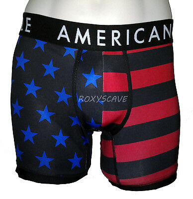 NWT AMERICAN EAGLE OUTFITTERS MENS 6 STRETCH AMERICANA AEO BOXER BRIEFS